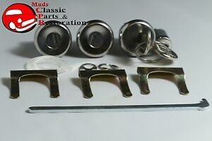 66 Chevelle 69 Gto Pontiac B body Glove Trunk Door Locks Later Style Round Keys