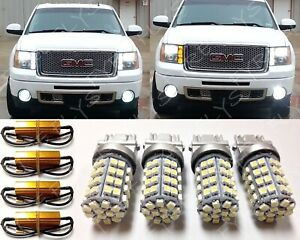 White amber Switchback Turn Signal Leds Resistors 2007 2013 Gmc Sierra f7x2
