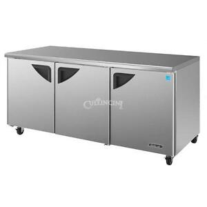 Turbo Air Deluxe Series Undercounter Refrigerator Tur 72sd