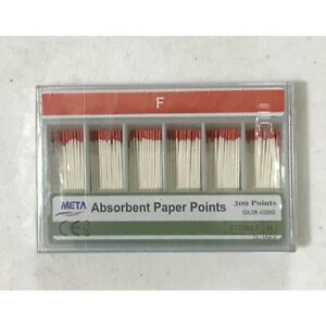 Meta Absorbent Paper Points Fine Color Coded 200 pack