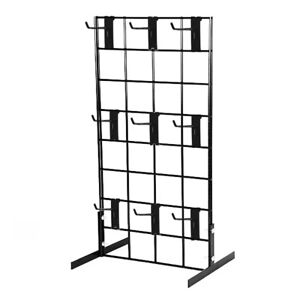 Counter Top Gridwall Display Fixture W 9 4 Grid Hooks