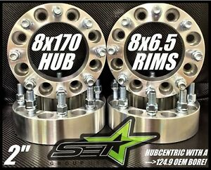 8x170 To 8x6 5 Wheel Adapters 2 Use Chevy Dodge Wheels On Ford Superduty 14x1 5