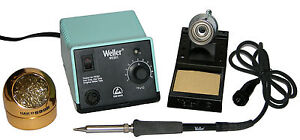 Weller Wes51 Analog Soldering Station With Hakko s 599b 02 Waterless Tip Cleaner