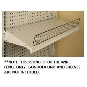Gondola Shelf Wire Fence 3 H X 36 L Lozier Madix Chrome Finish 5 Pieces