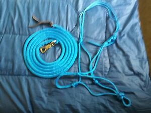 SOFT 2-KNOT HALTER 12' LEAD ROPE WTWIST SNAP FOR PARELLI TRAINING