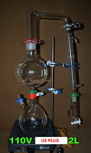 110v Essential Oil Steam Distillation Apparatus come With The Graham Condenser