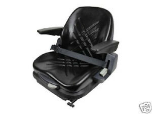 Premium Integrated Suspension Seat flip Up Arm Rest Document Holder forklift hj