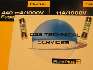 Fluke 440 Ma And 11 Amp High Voltage Fuse Pack New