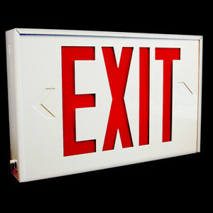 Lithonia Lighting Led Exit Sign Single Face Lx W 3 El N