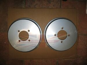 Pair Of Brushed Aluminum Brake Drum Covers For Mgb Tube Axle 1968 1980