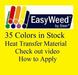 Heat Transfer Siser Easyweed Vinyl 15 X 5 Yards 15 Ft 35 Colors In Stock