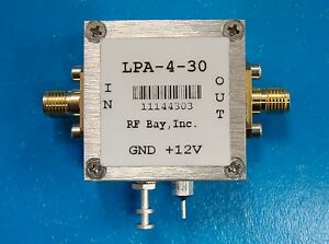 100 4000mhz 33db Gain Wideband Rf Amplifier Lpa 4 30 New Sma