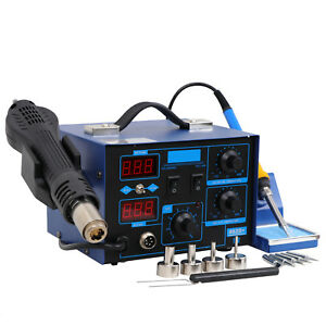 2in1 Smd Digital Soldering Station 862d Hot Air Soldering Iron 4 Nozzles Us S