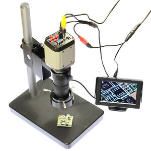 Hd Industry Microscope Camera Set Kit 4 3 Lcd Monitor Led Light Pcb Soldering