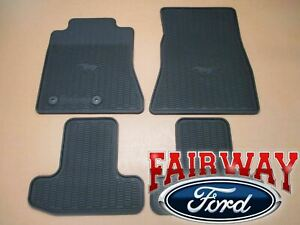 15 Thru 19 Mustang Oem Genuine Ford Parts Black Rubber Floor Mat Set 4 pc