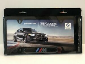 Bmw M Logo License Plate Frame Oem Black
