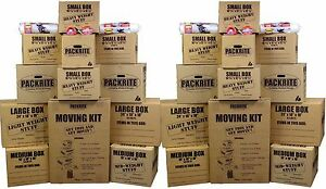 Large Moving Boxes Kit Heavy Duty Cardboard Boxes Packing Supplies Shipping