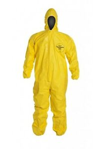 Protective Suit Dupont Hooded Tychem r Qc Bound the Realdeal L