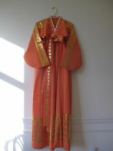 Vintage Korean Traditional Hanbok Boutique Silk And Polyester