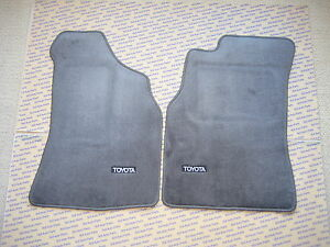 Toyota Pickup Truck 4runner Factory Floor Mats Dark Gray Carpet Oem 1989 1995