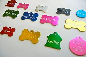 CUSTOM ENGRAVED PERSONALIZED PET TAG ID DOG CAT NAME TAGS DOUBLE SIDE $5.98