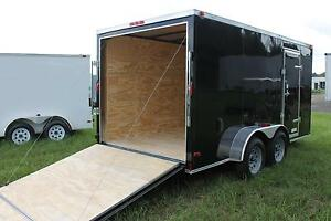 6x12 Enclosed Cargo Trailer Tandem Dual V nose Utility Motorcycle 14 Box Hauler