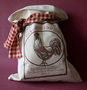 Primitive Flour Sack Vintage Rustic Feedsack Country Home Feed Sack Folk Art