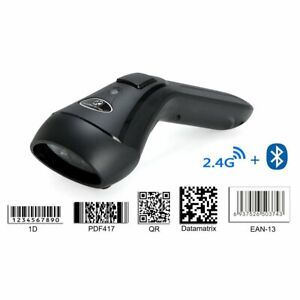 Dual 2 4g Wireless Bluetooth Wireless 1d 2d Barcode Scanner For Ios pc android