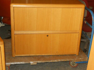 2 Two Draw Wooden File Cabinets