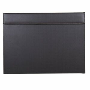 18 x14 Leather Desk Pad A3 Protector Writing Mat With Paper Clip Board Brown