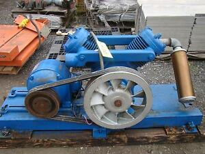 Kellogg american Skid Mount Air Compressor Model K40at Ge 5hp Motor 220 440v 3