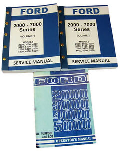 Lot Ford 3000 4000 Series Tractor Service Repair Shop Operators Owners Manuals