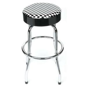 Trades Pro Shop Stool With Checkerboard Seat 620308