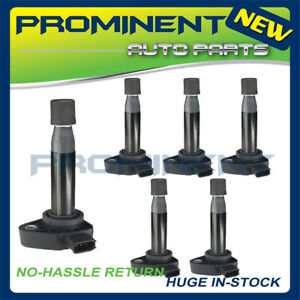 6pcs Ignition Coils Uf242 For 99 10 Acura Honda Accord Odyssey 3 0l 3 2l 3 5l V6
