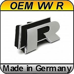 Original Vw Golf 6 R Chrome Grill Badge Emblem Genuine Oem Volkswagen Vi