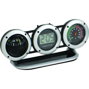 Bell Automotive Products Combo Clock Compass Thermoter 29015 8