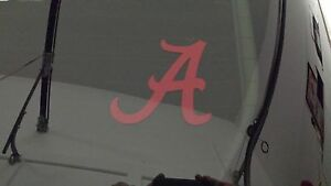 2 University Of Alabama A Vinyl Car Window Decals Stickers Crimson Tide