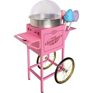 Nostalgia Electrics Cotton Candy Machine Cart Commercial Vintage Spinner Stand