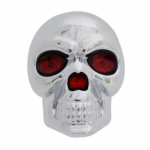 Bully Trailer Hitch Receiver Cover Skull W Led Eyes Cr018