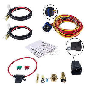 Champion Cooling Ca Relay Kit For Single Or Dual Fan Includes Thermal Switch
