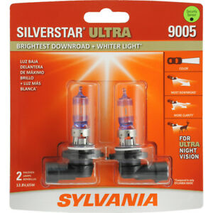 Headlight Bulb silverstar Ultra Blister Pack Twin Sylvania 9005su bp2