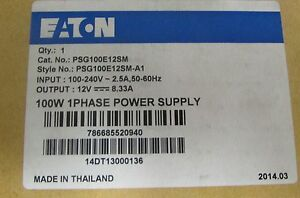 Eaton Psg100e12sm 8 33 Amp 12v Power Supply Psg100e12sm A1