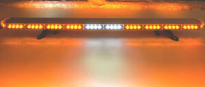 50 Led Amber Light Bar Tow Truck Plow Police Fire Ems Pilot Car Strobe Pilot