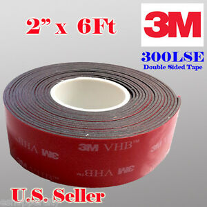 3m 2 X 6 Ft Vhb Double Sided Foam Adhesive Tape 5952 Automotive Mounting 50mm