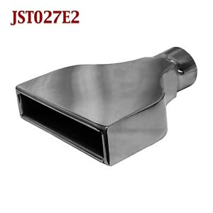 Jst027e2 2 5 Black Chrome Rectangle Camaro Exhaust Tip 2 1 2 Inlet 10 Long