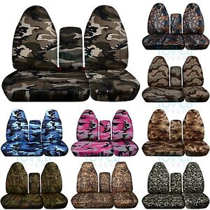 1996 2003 Ford F 150 40 60 Camo Truck Seat Covers console armrest Bench Series