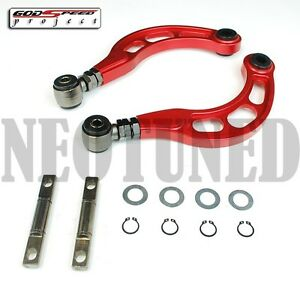 Godspeed Gsp Gen2 2006 2015 Civic All Rear Adjustable Camber Arm Kit Red Fa Fg