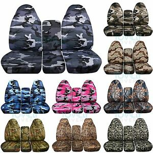 1993 1998 Ford F series F 150 250 350 40 20 40 Camo Truck Seat Covers W Console