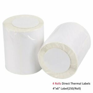 4 Rolls Of 250 Direct Thermal Labels 4x6 For Zebra Eltron 2844 Zp 450 Zp 500