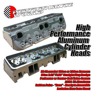 Sbc Aluminum Head And Component Kit 283 400 64cc Head